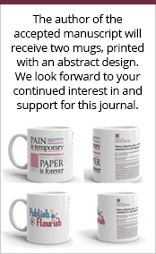 The author of the accepted manuscript will receive two mugs, printed with an abstract design. We look forward to your continued interest in and support for this journal.
